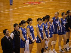 TORAY Arrows after a game of V league (Japan women's valley ball)