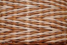 Поделка изделие Плетение Наплела    Бумага газетная фото 5