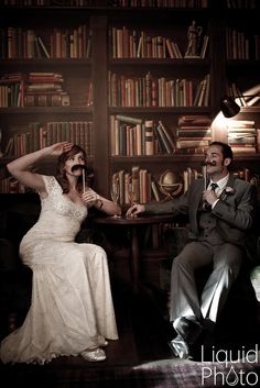 #Wedding Bride & Groom - Fun with Moustaches - Hotel du Vin Cambridge Wedding Photography #weddingphotography www.linaandtom.com