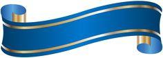 Elegant Banner Blue PNG Clip Art