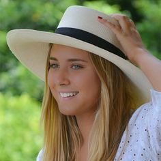 Panama Cuenca Hat - Gambler (Chemise) (Grade 3-4) Wide Brim | | Panama Hats | Mobile