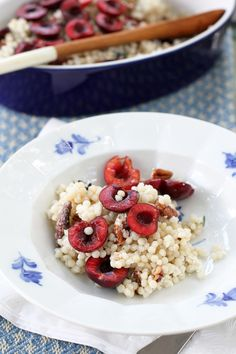 cherry, pecan, goat cheese couscous
