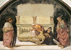 Luca Signorelli - Orvieto: Cappellina dei Corpi Santi - Compianto di Cristo morto tra i SS. Faustino e Parenzo - 1499-1502 - affresco - Cappella di San Brizio, Duomo, Orvieto