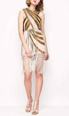 178da192d37 BNWT ALICE MCCALL NUDE GOLD SURREALIST DRESS - SIZE 6  fashion  clothing