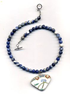 ON SALE 3000 sales FEST Blue Sodalite Necklace with by Annaart72