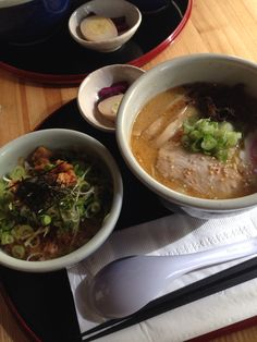 Pork belly ramen lunch set @ 山頭火