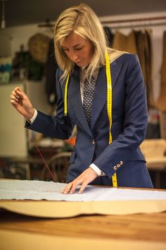 Bespoke Suit, Bespoke Tailoring, Women Wearing Ties, Nicole Farhi, Women Ties, Savile Row, Future Wife, Well Dressed, Role Models