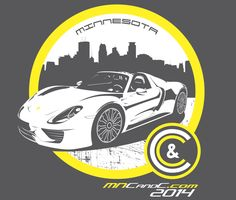 2014 MN Cars & Coffee T-Shirt Illustration - WITH VIDEO by Kate Pickering, via Behance