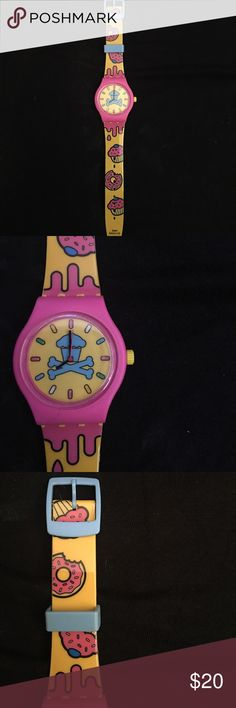 Johnny cupcakes X The Simpsons watch This is a watch from johnny cupcakes, it's made with a plastic wristband and has never been worn, the battery needs to be replaced. johnny cupcakes Accessories Watches