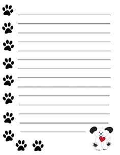 GradeONEderful.com Dog Writing Paper