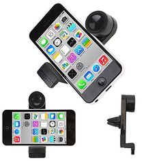 TKOOFN Portable Smartphone Car Air Vent Airframe Mount Holder Smartphones GPS iPhone  works with iPhone 3 3GS 4 4S 5S 5C all HTC Samsung Galaxy S S2 S3 S4 S Advance Ace Ace 2 Note Note 2  Black  MCZ0101 -- Read more  at the image link. (Note:Amazon affiliate link)