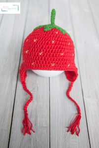 strawberry hat #crochet