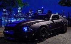 tuning cars | Download wallpaper Mustang, black, Tuning, cars free desktop wallpaper ...