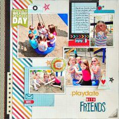 Playdate with Friends ~Gossamer Blue~ - Scrapbook.com