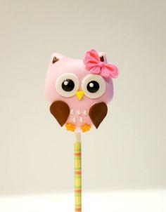 Pink Girlie Owl with a Bow Cake Pop Owl Cakes, Bird Cakes, Cupcake Cakes, Ladybug Cakes, Fruit Cakes, Owl Cake Pops, Owl Food, Cake Pop Designs, Owl Birthday Parties