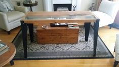 Industrial furniture - desk Industrial Furniture, Desk, Table, Projects, Home Decor, Log Projects, Homemade Home Decor, Desktop, Writing Desk