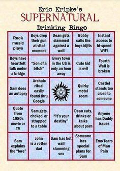 SPN drinking bingo