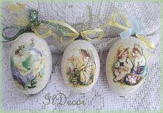 IlDecor -Egyedi decoupage tárgyak oldaláról hoztam. Egg Decorating, Easter Crafts, Festivals, Easter Eggs, Decoupage, Gift Wrapping, Seasons, Creative, Gifts