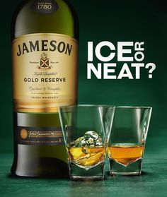 There's a debate roaring today. We're disputing the best way to sip our Jameson Gold Reserve: neat or with ice. Best Irish Whiskey, Scotch Whiskey, Good Whiskey Brands, Whisky Bar, Whiskey Distillery, Whiskey Quotes, Cheers, Alcohol Bottles, Irish Recipes