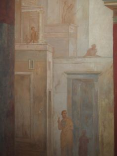 The perspective in Roman painting has no common vanishing point; but it is in the absence of graphical unity where we discover the aesthetic one: a discordant assembly of volumes represents the absence of architectural unity in the city of Rome.