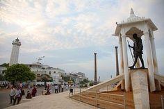 Gandhi Statue, Pondicherry