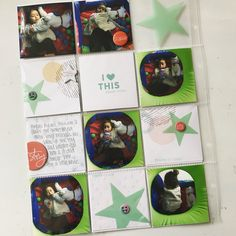 A 3x3 project life layout spread using an older studio calico kit. #projectlife