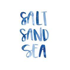 Salt, sand and sea.: