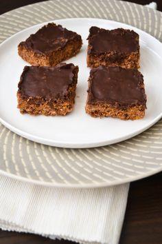 Chocolate cornflake crunch slice. A very chocolatey slice with a great crunch.