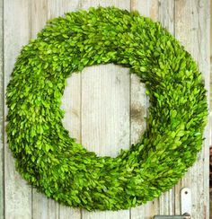 This indoor boxwood wreath is great for anywhere in your home!