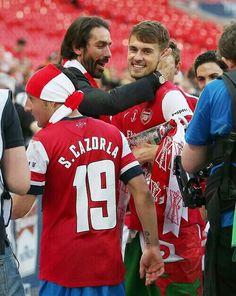 Pires congratulates the team