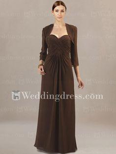 Elegant Strapless Long Mother of the Groom Dress MO173