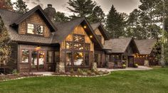 Luxury Cabin On The Whitefish Chain. Enjoy this Luxurious Cabin on the Whitefish Chain of Lakes located on a 1 acre lot and 175 feet of lakeshore with hard. House Ideas, Cabin Ideas, Luxury Cabin, Luxury Homes, Cabin Kits, Lake Cabins, Log Cabin Homes, Mountain Homes, Rustic Homes
