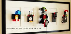 Modern And Simple DIY Lego Wall Art | Kidsomania