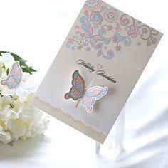 mariposa invitación de la boda sellado (serie de 50) - USD $ 59.99