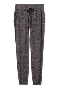 Joggers in soft, viscose-blend jersey with an elasticized drawstring waistband and side pockets. Dropped gusset and tapered legs with elasticized hems. Joggers, Sweatpants, H&m Online, Drawstring Waist, Fashion Online, Kids Fashion, Pajama Pants, Legs, Swimwear