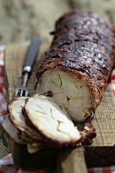 Das Rezept für Barbecue-Tennessee-Schweinerücken mit Bacon und weitere kostenlose Rezepte auf LECKER.de