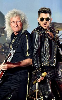 Brian May and Adam Lambert from The Big Picture: Today's Hot Pics