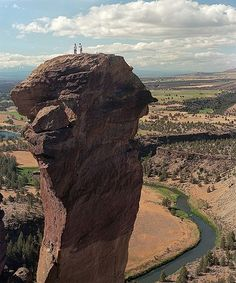 Smith Rock State Park is an American state park located in central Oregon's High Desert near the communities of Redmond and Terrebonne. Its sheer cliffs of tuff and basalt are ideal for rock climbing of all difficulty levels.