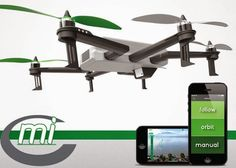 C-mi Smartphone Controlled All-in-One Camera Drone / TechNews24h.com #kickstarter #drones