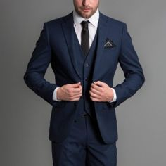 Cool and fashionable dark blue suit for men (7)