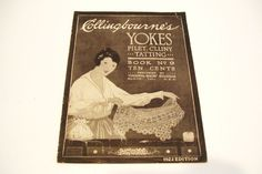 1922 Collingbourne Yokes Tatting Filet Crochet Cluny Pattern Book No. 9 #Collingbourne $32.99 includes Free USA and Canada Shipping!