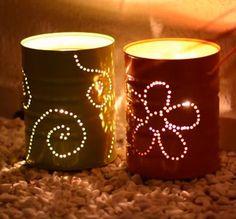 Veja como fazer uma luminárias de jardim sem gastar nada! Use materiais que já tem em casa e decore o seu lar.
