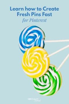 3 Easy Ways to Create Fresh Pins on Pinterest #PinterestMarketing #PinterestTips #FreshPins
