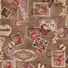 Love Letters and Stamps Cotton Linen Mix (per metre) Love Letters, Cotton Linen, Cosmos, Wonderland, Projects To Try, Kids Rugs, Album, Rose, Painting