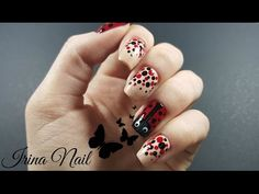 Unghiute cu buburuza - YouTube Ladybug Nails, Dot Nail Art, My Nails, Dots, Valentines, Tattoos, Artwork, Youtube, Channel