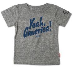 Yeah America - SS Tee - Grey