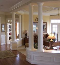 not a fan of the room itself but i love the idea of columns inside the - Decorative Pillars For Homes