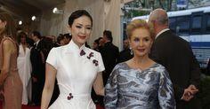 Zhang Ziyi and Carolina Herrera at the Met Museum Costume Institute Gala 2015