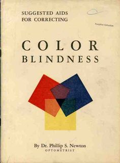 Suggested aids for correcting color blindness