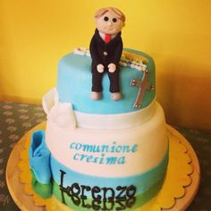 Communion & confirmation cake - congrats Lorenzo
